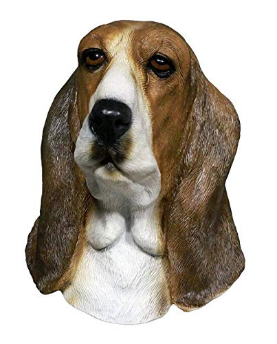 Latex Animal Dog Head Mask, Party Costumes Fancy Dress Up Carnival Mask Full Head Animal Popular Cosplay (Bowser Basset Hound)