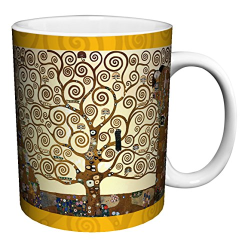 Gustav Klimt Tree of Life Fine Art Ceramic Gift Coffee (Tea, Cocoa) 11 Oz. Mug ()