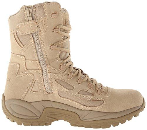 8in Zip Side Response Reebok Boots Tan Desert Rapid Military BwtqAO