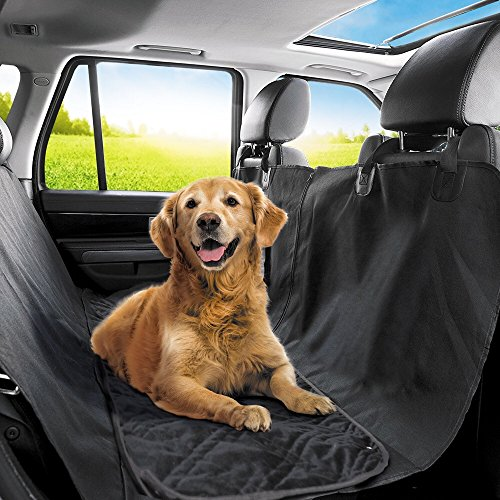 PetTech Luxury Car Seat Cover/Hammock For Rear Bench, For Large and Small Dogs, Simple Installation, Easy To Clean, Protect Your Car, 100% Waterproof, Anti-Slip Design, Travel Worry-Free (Installation Rear)