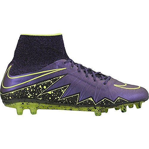 nike hypervenom phantom II FG mens football boots 747213 soccer cleats (us 9 , hyper grape black volt 550) 747213-550