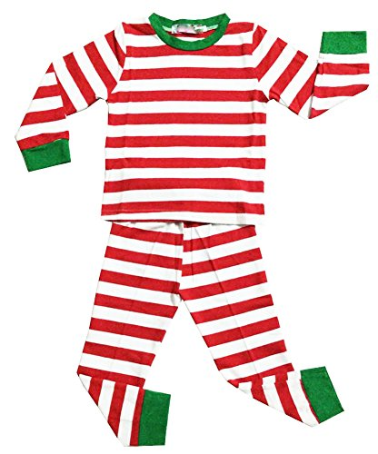 Baby Boys Girls Long Sleeve Xmas Stripe Sleepwear Pants Pajamas Set (7, (Granny Stripe)
