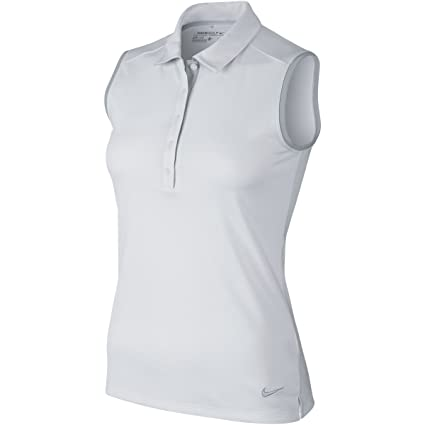 470f07bdfa Amazon.com : NIKE Golf Women's Victory Colorblock Sleeveless Polo WHITE M  CLOSEOUT 725599-100 : Sports & Outdoors