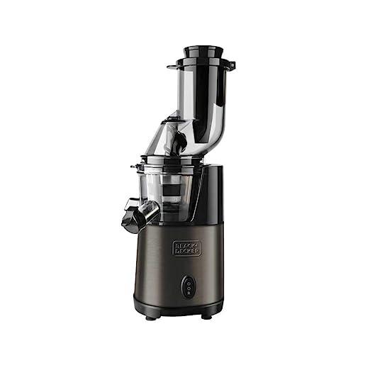Black+Decker BXJE200E Licuadora de extracción lenta, 200 W, Acero ...