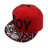 ECYC Little Boys Baseball Caps 3-8 Years Kids Spring Summer Hip-Hop Hats Sun Hat, Red