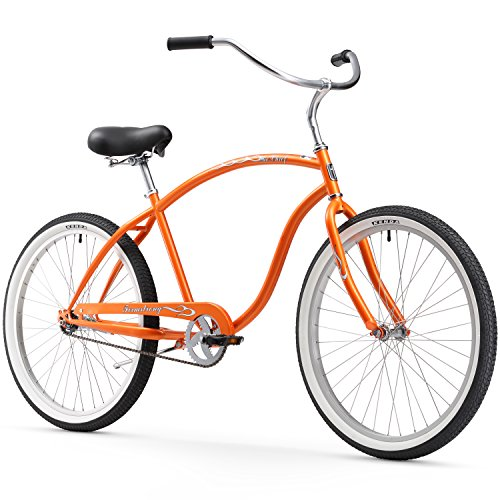 Firmstrong Chief Man Single Speed Beach Cruiser Bicycle, ...