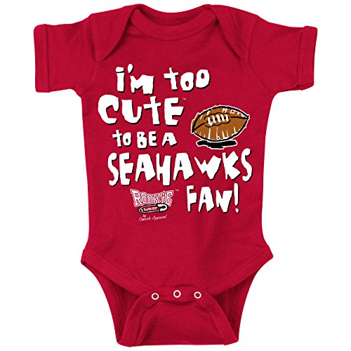 Smack Apparel Arizona Cardinals. Too Cute. Onesie (NB-18M) or Toddler Tee (2T-4T) (6 Month) Arizona Cardinals Infant Creeper