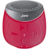 JAM Doubledown Wireless Portable Bluetooth Speaker, Splash Proof, Ultra Portable, Pair 2 for Stereo Sound, Answer Calls, Speakerphone, Rubberized Body, Durable, 30ft Range, HX-P370RD Red