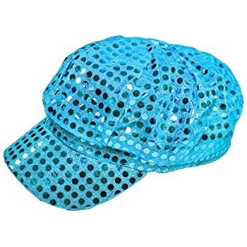 ladies sequin baseball caps uk red cap turquoise sparkly newsboy diva hat disco rave girls costume