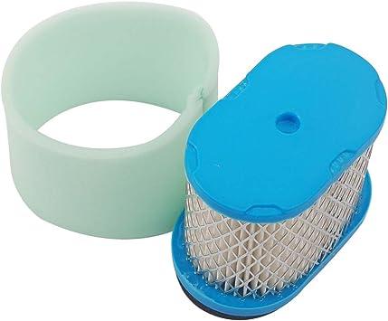 Filtro de repuesto Air Filter & Pre Filter Cleaner para Briggs & Stratton de Beehive Filter 498596 690610 697029 5059h 4207 30-033 John Deere M147431 + 273356s