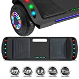 NHT Latest Generation Electric Hoverboard Build-in Bluetooth Speaker Electric Self Balancing Scooter Hover Board with LED Lights Safety Certified (Solid Black)