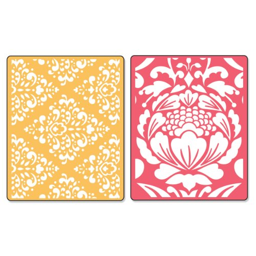 Sizzix Textured Impressions Embossing Folders 2PK - Baroque & Flowertopia Set by Dena Designs - Ellison Design Embossing Folders