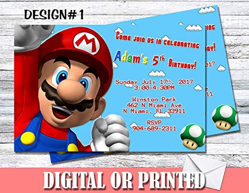 Super Mario Personalized Birthday Invitations More Designs Inside! -