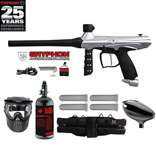 Tippmann Gryphon Starter HPA Paintball Gun Package - Silver