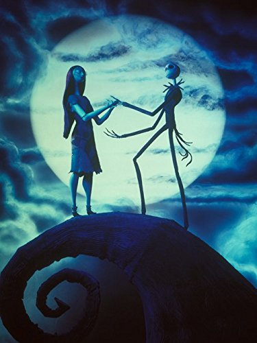 makeuseof Gnew arrival hot sale Tim Burton's Nightmare Before Christmas Movie Jack and Sally Printing Poster/ 24X36 Inch / Art Silk Poster