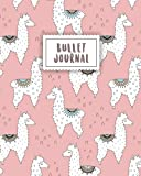 Bullet Journal: Cute Alpaca with Pastel Pink | 150 Dot Grid Pages (size 8x10 inches) | with Bullet Journal Sample Ideas