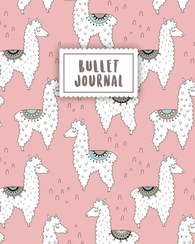 Download Bullet Journal: Cute Alpaca with Pastel Pink  150 Dot Grid Pages (size 8x10 inches)  with Bullet Journal Sample Ideas pdf