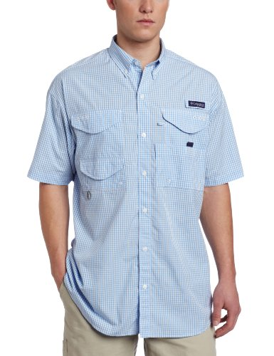 Columbia Men's Super Bonehead Classic Short Sleeve Shirt, Large/Tall, White - Gingham Classic Cap