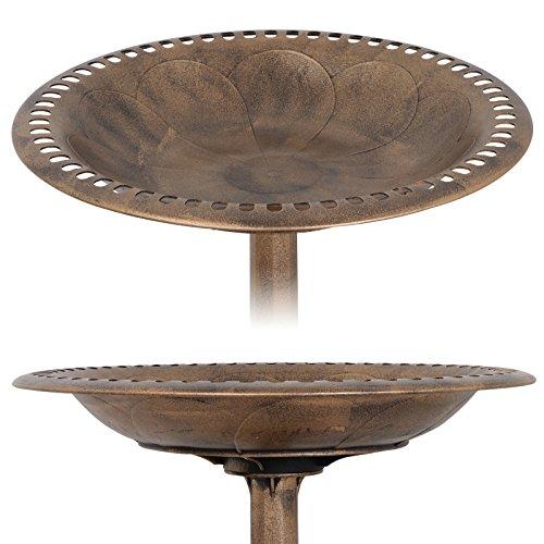 ZENY Bird Bath 28'' H Luxury Outdoor Pedestal Birdbath Bird Feeder Freestanding Garden Decor,Resin (Bronze) by ZENY (Image #2)