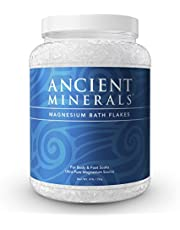 Ancient Minerals Magnesium Bath Flakes of Pure Genuine Zechstein Chloride - Resealable Magnesium Supplement Bag That Will Outperform Leading Epsom Salts (4.4 lb)