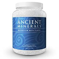 Ancient Minerals Magnesium Bath Flakes 4.4lb - Pure Genuine Zechstein Magnesium Chloride - Bath Salt Supplement - Best for Topical Skin Absorption in Bath and Foot Soaks