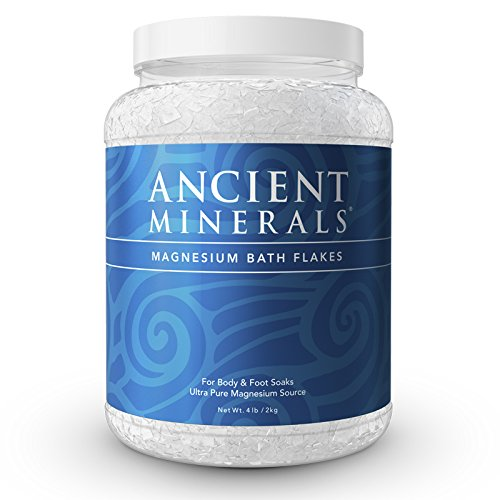 (Ancient Minerals Magnesium Bath Flakes of Pure Genuine Zechstein Chloride - Resealable Magnesium Supplement Bag That Will Outperform Leading Epsom Salts (4.4 lb))