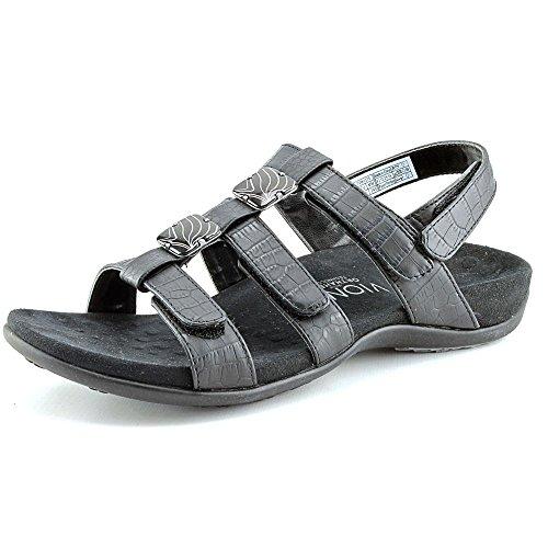 Vionic Women's Rest Amber Black Croco Sandal