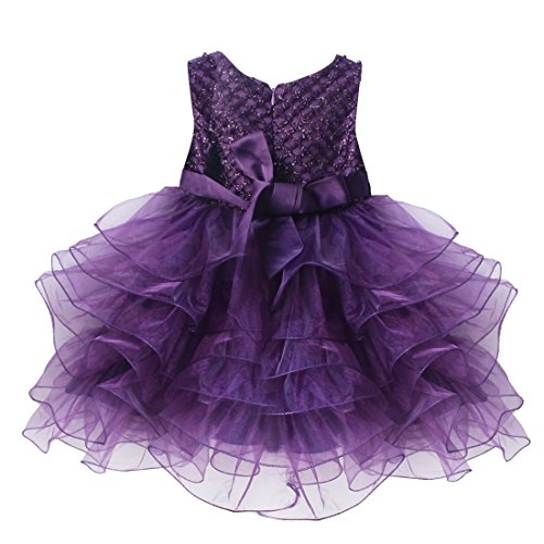 Tiaobu baby girls flower wedding pageant princess bowknot for 12 month dresses for wedding