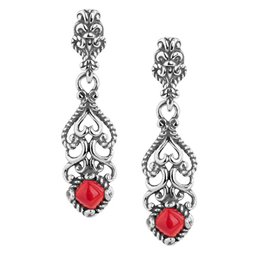 Carolyn Pollack Jewelry - Carolyn Pollack Sterling Silver Red Sea Bamboo Earrings - Possibilities Collection