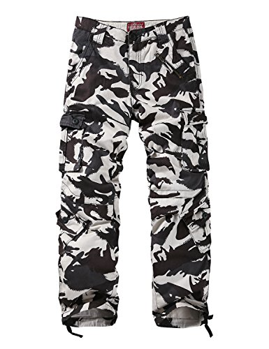 Match Men's Wild Cargo Pants(36,White max) (White Cargo Pants)