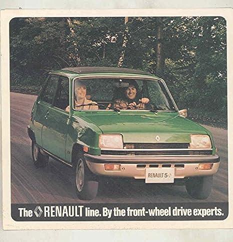Amazon.com: 1977 Renault 5GTL 12TL Sedan Estate 17 Gordini Convertible Coupe Brochure: Entertainment Collectibles