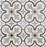 18x18 Balenciaga Pattern Tile Made in Spain Genuine Ceramic Cream Color