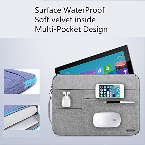 Audirex Water Drop Proof Laptop Tablet Sleeve Handbag for 12 - 13.3 Inch MacBook Air | MacBook Pro Retina 2012 - 2017 | 12.9 Inch iPad Pro | Surface Pro 3 Pro 4 | New Surface Pro by Audirex (Image #1)