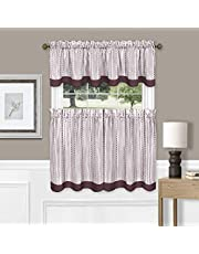 Achim Home Furnishings Westport Window Curtain Tier Pair and Valance Set