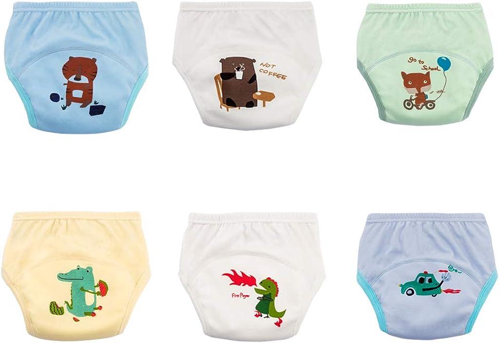 Couche Culotte dapprentissage 3 Couches sous-v/êtements MissChild Pantalons dentra/înement de Pot B/éb/é 5 Pack Enfant Fille Gar/çon