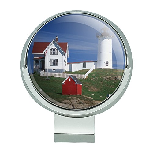 Graphics and More Nubble Lighthouse Maine ME Golf Hat Clip With Magnetic Ball Marker (Golf Shores Course)