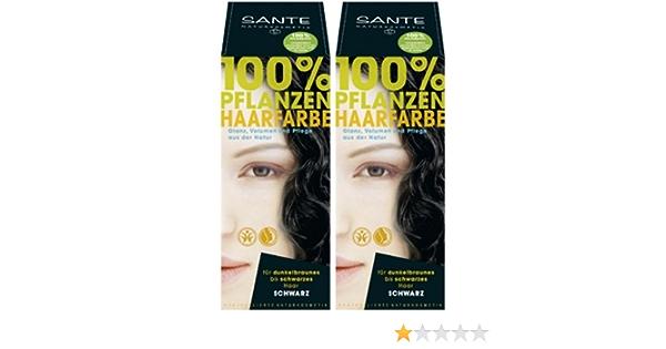 Sante bio – Tinte para el cabello negro 2 x 100 g doble ...