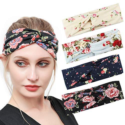 Knot Twist Head Wrap Stretch Hairband Polka Dot Twist Headband Hair Wrap.