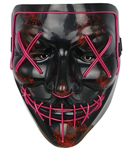 Topcosplay Men's Costume Masks Led EL Wire Mask