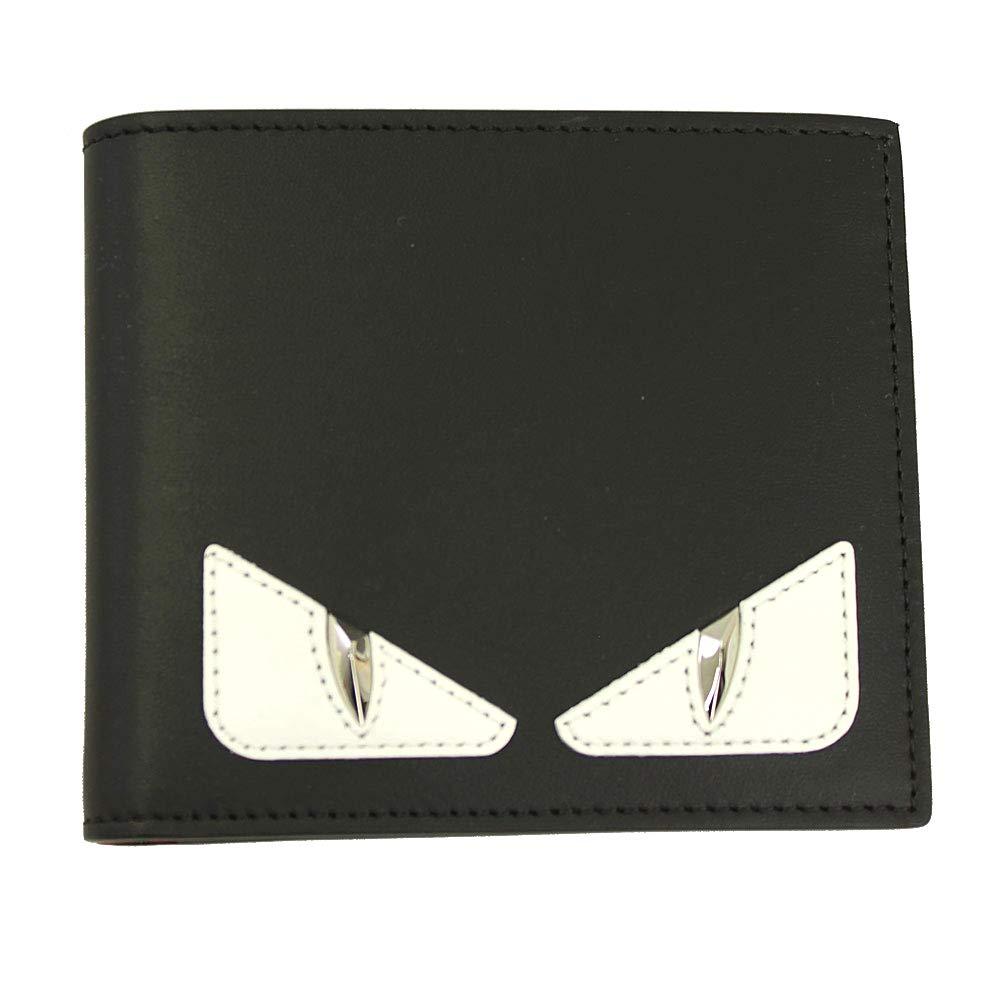 3844765dc3 Fendi Bugs Eye Men's Black Leather Bi-fold Wallet 7M0169 A3DO at ...