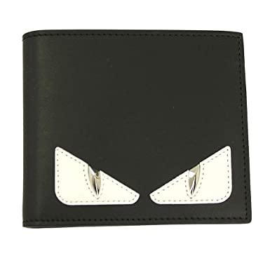 Fendi Bugs Eye Men s Black Leather Bi-fold Wallet 7M0169 A3DO at ... 29c316fe9c6c9