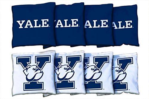 NCAA Yale Bulldogsユニセックス54751 Cornhole Bag Set (All Weather)、マルチカラー、1サイズ