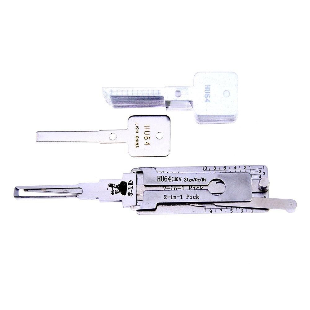 HU101 Professional Locksmith Pick Lock Tool NWBal Lishi 2-in-1 Car Pick and Decoder Tool Auto Lock Pick Set v.3 10