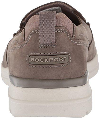 Rockport Mens Glissement De Bord De Ville Sur La Chaussure Nubuck Taupe