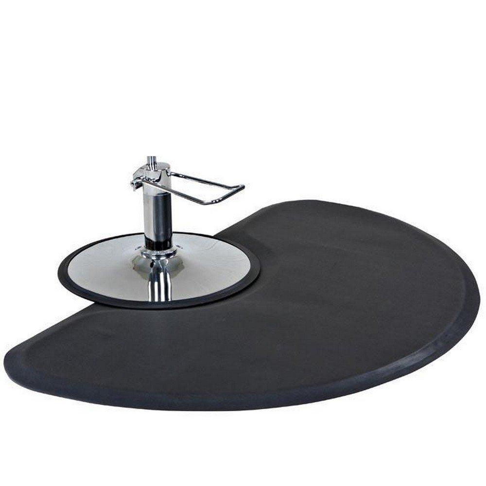 Semi Circle 1/2'' Anti Fatigue Beauty Salon Floor Mat by Comfy Mat