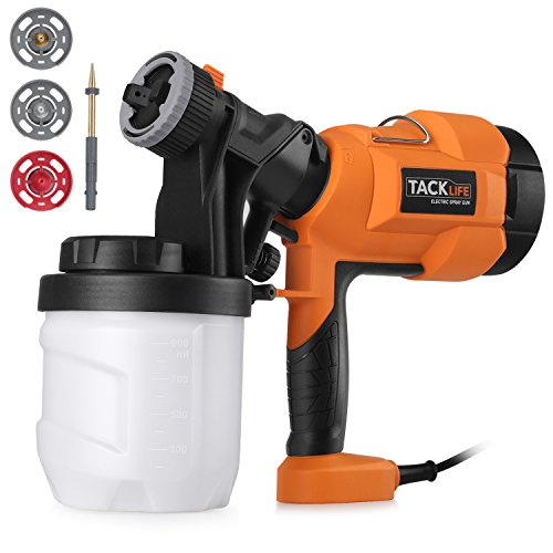 (Paint Sprayer 800ml/min, Electric Spray Gun with Three Spray Patterns, Four Nozzle Sizes, Adjustable Valve Knob, Quick Refill Lid and 900ml Detachable Container)