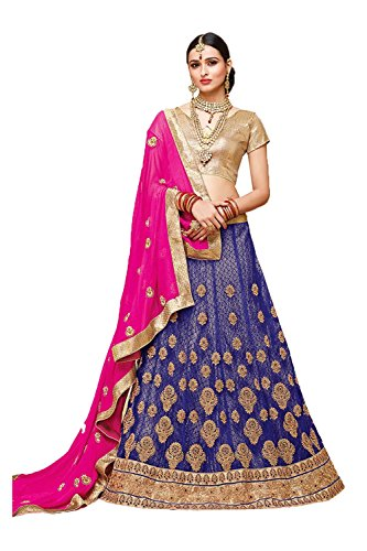 Da Facioun Indian Women Designer Wedding Purple Lehenga Choli Fabz-2389