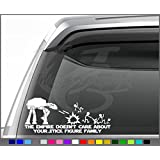 """Star Wars inspired The empire doesnt care about your stick family decal 12"""" AT AT Version"""