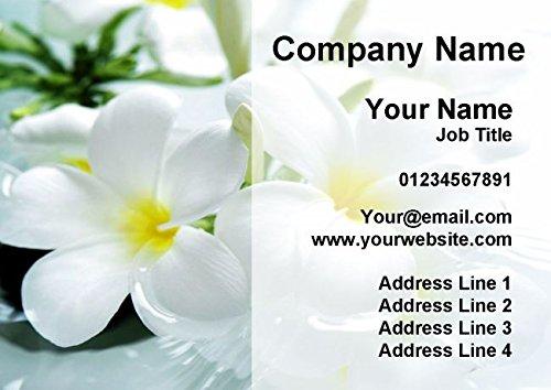 500 Beauty Salon Massage Treatment Spa Personalised Business Cards Fingerprint Designs