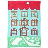 ムーミンタオルケット 綿100%ジャガード織り シングルサイズ 140cmx200cm ムーミン谷の楽しい仲間たち